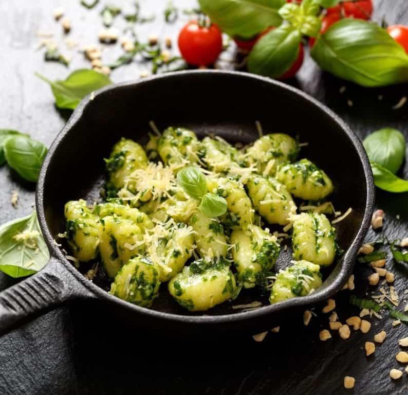 Smaczne zielone gnocchi