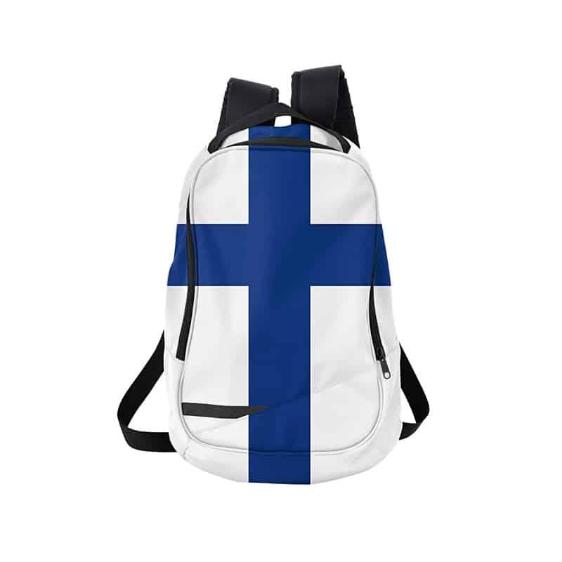 szkolny plecak z flagąFinlandii